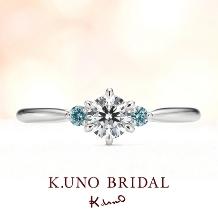 """K.UNO BRIDAL(ケイウノ ブライダル):【ケイウノ】花嫁を祝福する""""サムシングブルー""""の青い輝き"""