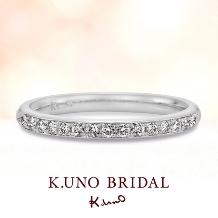 K.UNO BRIDAL(ケイウノ ブライダル):【ケイウノ】笑顔から生まれた妖精のモチーフが隠れたハーフエタニティ