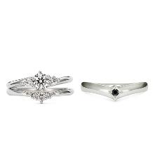 K.UNO BRIDAL(ケイウノ ブライダル):【ケイウノ】薬指に輝くダイヤモンドがまるで花嫁の持つブーケのよう
