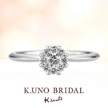 ケイ・ウノ_【ケイ・ウノ】クラウンをデザインした、側面までも美しいリング