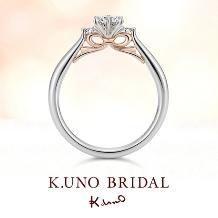 K.UNO BRIDAL(ケイウノ ブライダル)_本誌掲載【ケイウノ】想いを贈るリボンのエンゲージリング