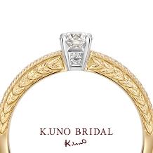 K.UNO BRIDAL(ケイウノ ブライダル):【ケイウノ】時代を超えて永く愛される月桂樹のモチーフ