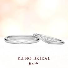 K.UNO BRIDAL(ケイウノ ブライダル):【ケイウノ】淡い青色に輝く澄んだ海の雫を、ふたりの純粋な愛情と重ね合わせて…。