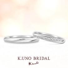 K.UNO BRIDAL(ケイウノ ブライダル)_【ケイウノ】一筋のラインは、ふたりの気持ちの強さの証