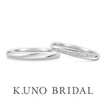 K.UNO BRIDAL(ケイウノ ブライダル):【ケイウノ】一筋のラインは、ふたりの気持ちの強さの証