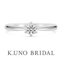 K.UNO BRIDAL(ケイウノ ブライダル)_【ケイウノ】シンプルなソリテールリングは、飾らない誠実な愛の象徴
