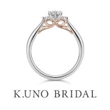 K.UNO BRIDAL(ケイウノ ブライダル):本誌掲載【ケイウノ】想いを贈るリボンのエンゲージリング