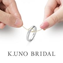 "K.UNO BRIDAL(ケイウノ ブライダル):一本の""純金糸""を結びあうことでふたりの絆が永遠に"