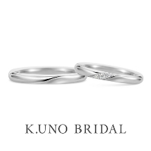 K.UNO BRIDAL(ケイウノ ブライダル):【ケイウノ】えくぼが浮かぶようなデザインに、笑顔のたえない日々を願って