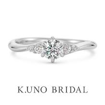 K.UNO BRIDAL(ケイウノ ブライダル)_NEW【フィオリーレ】メレダイヤモンドをあしらった華やかなエンゲージリング