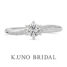 K.UNO BRIDAL(ケイウノ ブライダル)_NEW【パーチェ】10ピースのメレダイヤモンドをあしらったエンゲージリング
