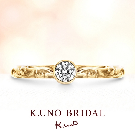 K.UNO BRIDAL(ケイウノ ブライダル):【ケイウノ】伝統的な唐草模様をファッショナブルに