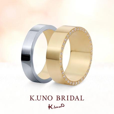 K.UNO BRIDAL(ケイウノ ブライダル):[オーダーメイド] 幅広で存在感あるおしゃれ上級者なデザイン