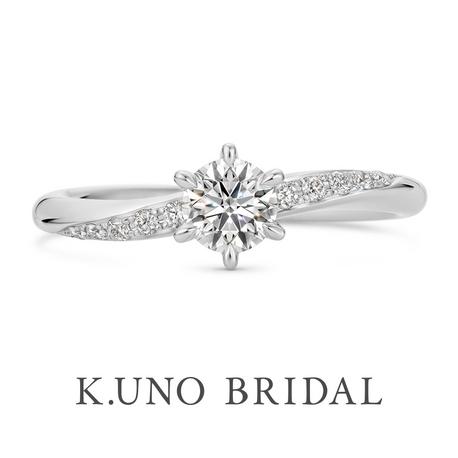 K.UNO BRIDAL(ケイウノ ブライダル):NEW【パーチェ】10ピースのメレダイヤモンドをあしらったエンゲージリング