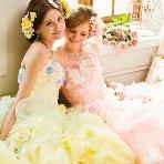 愛ロイヤルウェディング セントラルパークタワー:【愛ロイヤルウェディング】人気カラードレス ピンク・黄色