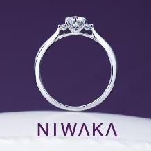yamatoya(ヤマトヤ):俄『 白鈴 SHIROSUZU 』婚約指輪 ~寄り添いほほ笑む 純白のすずらん~