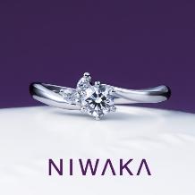 yamatoya(ヤマトヤ)_俄 「月彩」(つきさい)婚約指輪 ~月の彩り 二人を照らす~