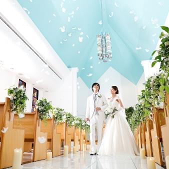 新横浜グレイスホテル/ロゼアン シャルム:【よくばり体験♪】チャペル見学&演出体験×ドレスフェア