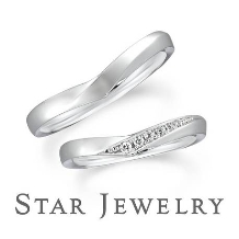 スタージュエリー_《スタージュエリー》なめらかなV字のフォルムが美しいダイヤモンドマリッジリング