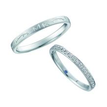 ジュエリー東京_【Something Blue】手掘りのデザインが特徴的な指輪