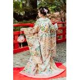 京鐘:◆総相良刺繍◆古典柄と水色パステルカラーの色打掛