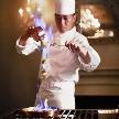 ホテルモントレ銀座で一番人気の試食会イベント!2名様で4万円相当のフルコースを無料にてご招待!シェフによる料理演出もあり!!模擬披露宴で本番の雰囲気さながらの演出をチェック!!
