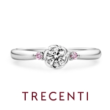 TRECENTI(トレセンテ):【フローラ-ペオニア-】希少な天然のピンクダイヤモンドを両サイドに輝かせて