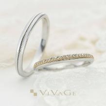 JEWEL SEVEN BRIDAL_繊細にダイヤとミルを重ね合わせたデザインは特別感溢れる華やかさ