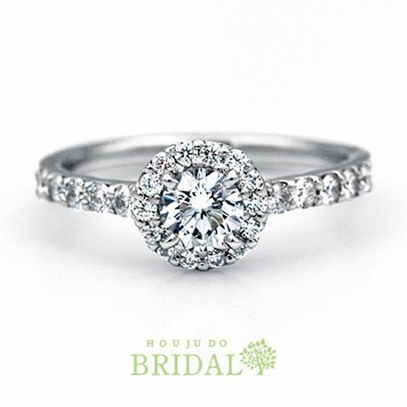 宝寿堂:【宝寿堂】ダイヤで取り巻いた豪奢で華やかなエンゲージ《HD2532》