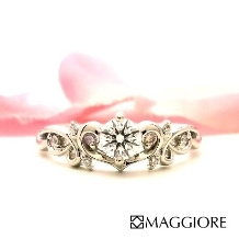 MAGGIORE アートダイヤモンド(マジョーレ):【マジョーレ】可愛い物が好きな女性に人気のエンゲージリング
