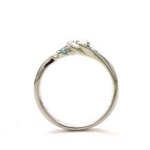 MAGGIORE アートダイヤモンド(マジョーレ):【マジョーレ】SNSで話題のブルーダイヤをあしらったエンゲージリング