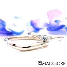 MAGGIORE アートダイヤモンド(マジョーレ):【マジョーレ】サムシングブルーの願いを込めた、一生愛せるマリッジ「ルチアーナ」