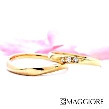 MAGGIORE アートダイヤモンド(マジョーレ)_【マジョーレ】2本セットで10万円未満!可愛く華やかなピンクゴールドのマリッジ