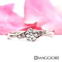 MAGGIORE アートダイヤモンド(マジョーレ):【マジョーレ】大人花嫁の手になじむ緩やかなS字ラインが人気「ハナミズキ」