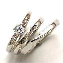 MAGGIORE アートダイヤモンド(マジョーレ):【マジョーレ】シンプルデザインに想いを込めて。ふたつでひとつになるマリッジリング