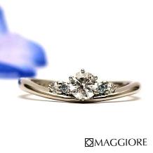 MAGGIORE アートダイヤモンド(マジョーレ)_鮮やかなブルーとホワイトダイヤで爽やかな印象に!★★マジョーレオリジナル★★