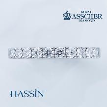 HASSIN BRIDAL(宝石の八神)_【ROYAL ASSCHER(ロイヤル・アッシャー)】ETERNITY RING