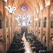 【仙台随一の正統派挙式を体感】「天井高18mのスケール」×「130年の歴史を継ぐステンドグラス」が魅力の大聖堂見学。ゲストも思わず息を呑む感動の誓いをイメージしながら、費用や料理もしっかり確認しよう♪