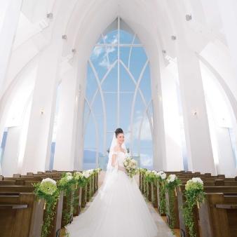 Angerobe Journée(アンジェローブ ジェルネ):【白亜のガラス張りチャペルで♪】挙式体験★花嫁なりきりフェア