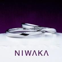 BROOCH_【俄】「 朝葉(あさは)」ぷくっとした丸みが可愛らしいシンプルな結婚指輪