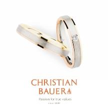 BROOCH_【クリスチャンバウアー】シンプルだからこそ映えるコンビカラーが美しい結婚指輪