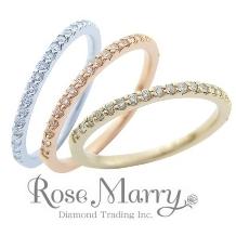 Sakai & Rose Vie(サカイ アンド ローズ ヴィ):3色の素材が選べる、細身のエタニティリング【RoseMarry】