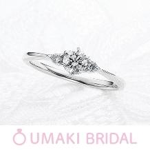 EYE JEWELRY UMAKI(アイジュエリー ウマキ)_【KN4】細めのアームにサイドのメレダイヤが上品な印象に