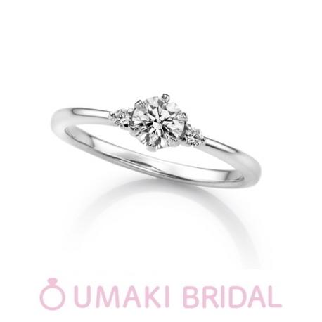 EYE JEWELRY UMAKI(アイジュエリー ウマキ):【KN4】細めのアームにサイドのメレダイヤが上品な印象に