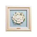 ブーケ保存専門店 花ぐるま:【花ぐるま】プリンセスなラウンドブーケを選んだ花嫁様へ「パールホワイトスクエア」