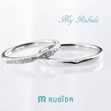 Rubida Bridal(ルビーダ ブライダル)●ジュエル ツチヤ_ルビーダ「マイ ルビーダ マリッジ リング」リボンデザインが大人可愛い結婚指輪