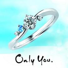 宝石のマルモ_【Only you】イノセントブルーアクアマリン結婚指輪との重ね付けにも大人気!