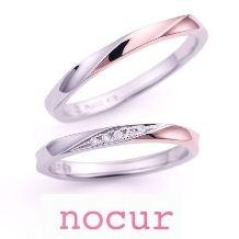 宝石のマルモ_【nocur】 ピンクゴールド使いでも女性的になり過ぎない結婚指輪!