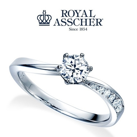 宝石のマルモ:【ロイヤル・アッシャー】花嫁憧れの婚約指輪