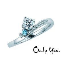 OGAKI SASHIGEN(大垣さし源)_【Only You】お守り石となるアクアマリンと輝く波をイメージした婚約指輪